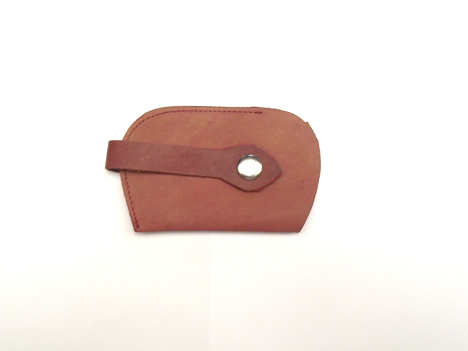 BROWN LEATHER KEY HOLDER, PERSONALISE WITH YOUR TELEPHONE NUMBER (IF LOST)