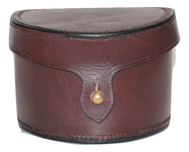 """LEATHER FISHING REEL CASE 3.5"""" X 4"""""""