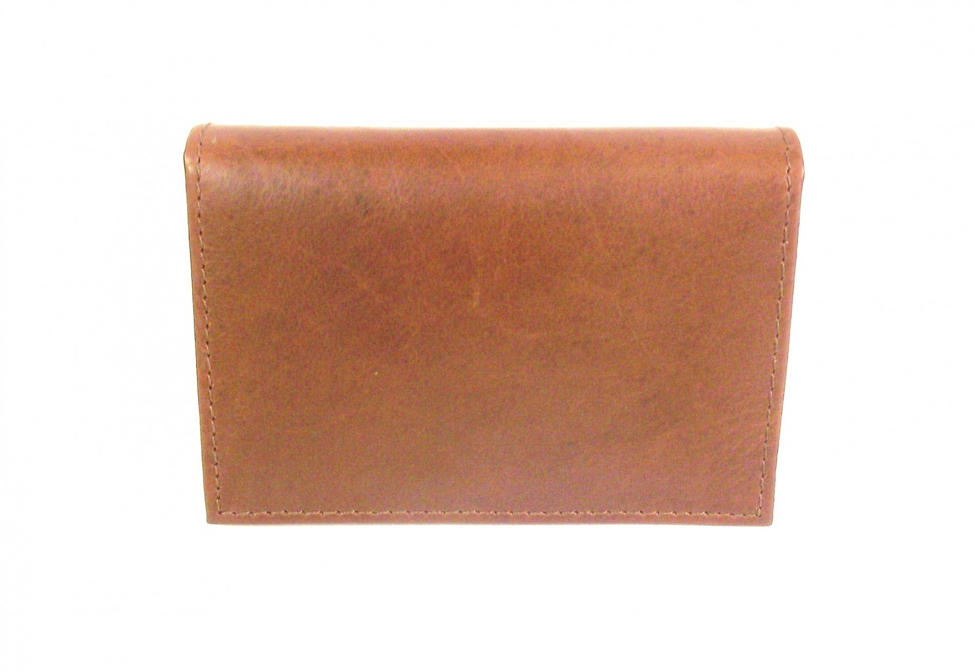 TAN LEATHER ID WALLET