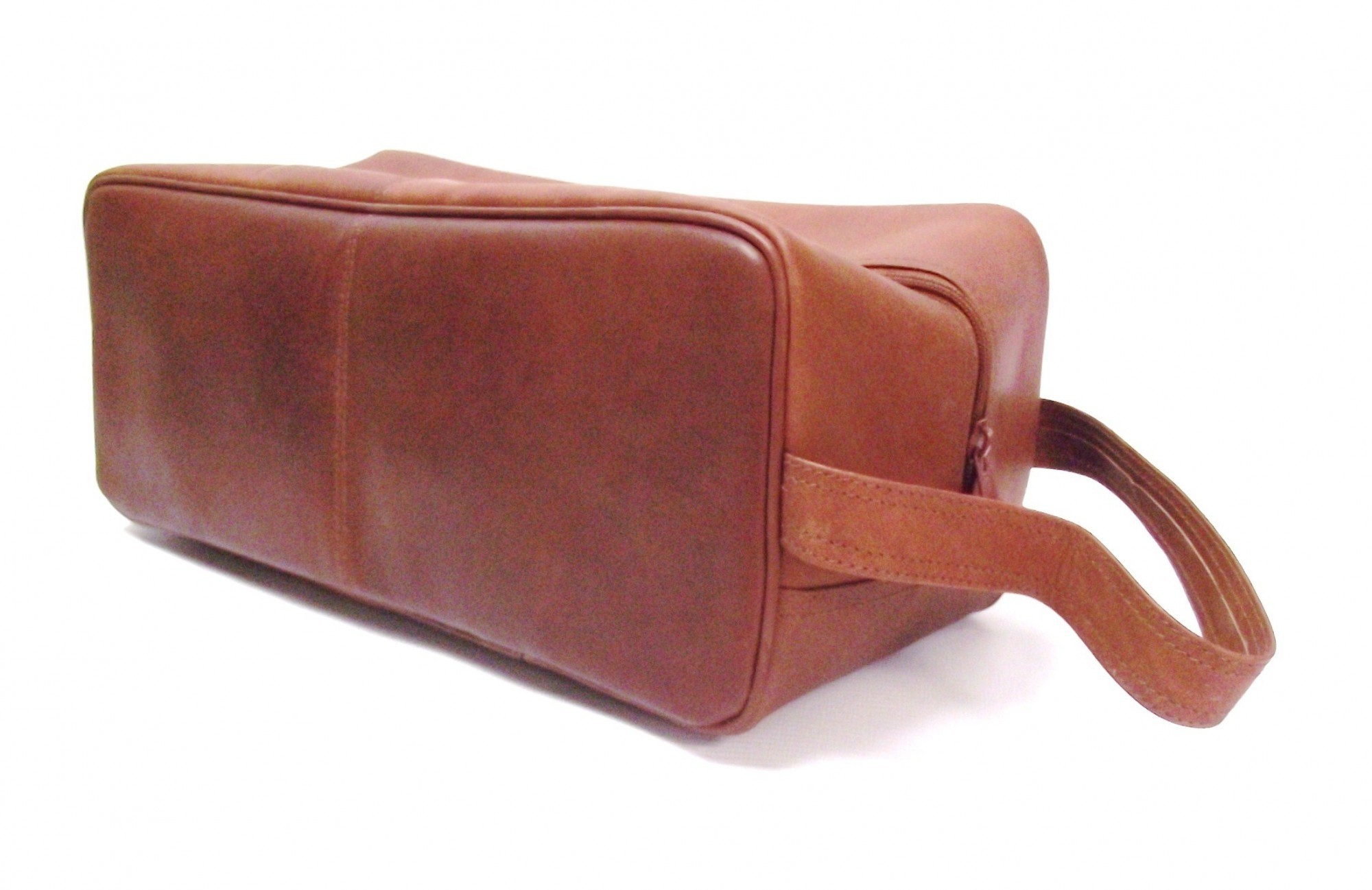 REAL LEATHER BROWN TAN GOLF SHOE BAG