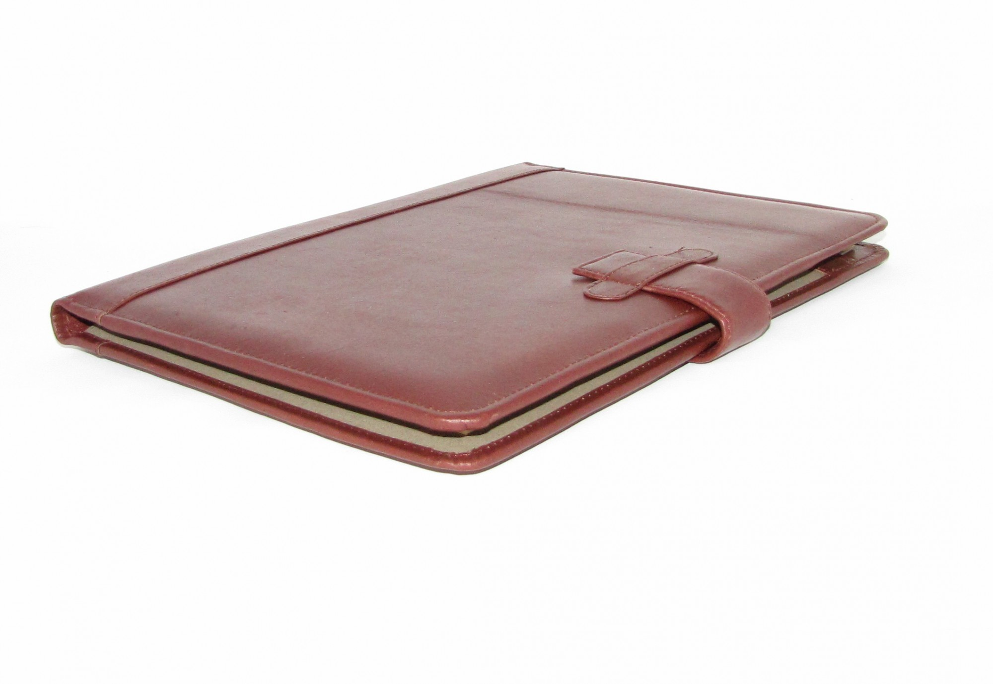 BROWN LEATHER A4 FOLDER ORGANISER PORTFOLIO