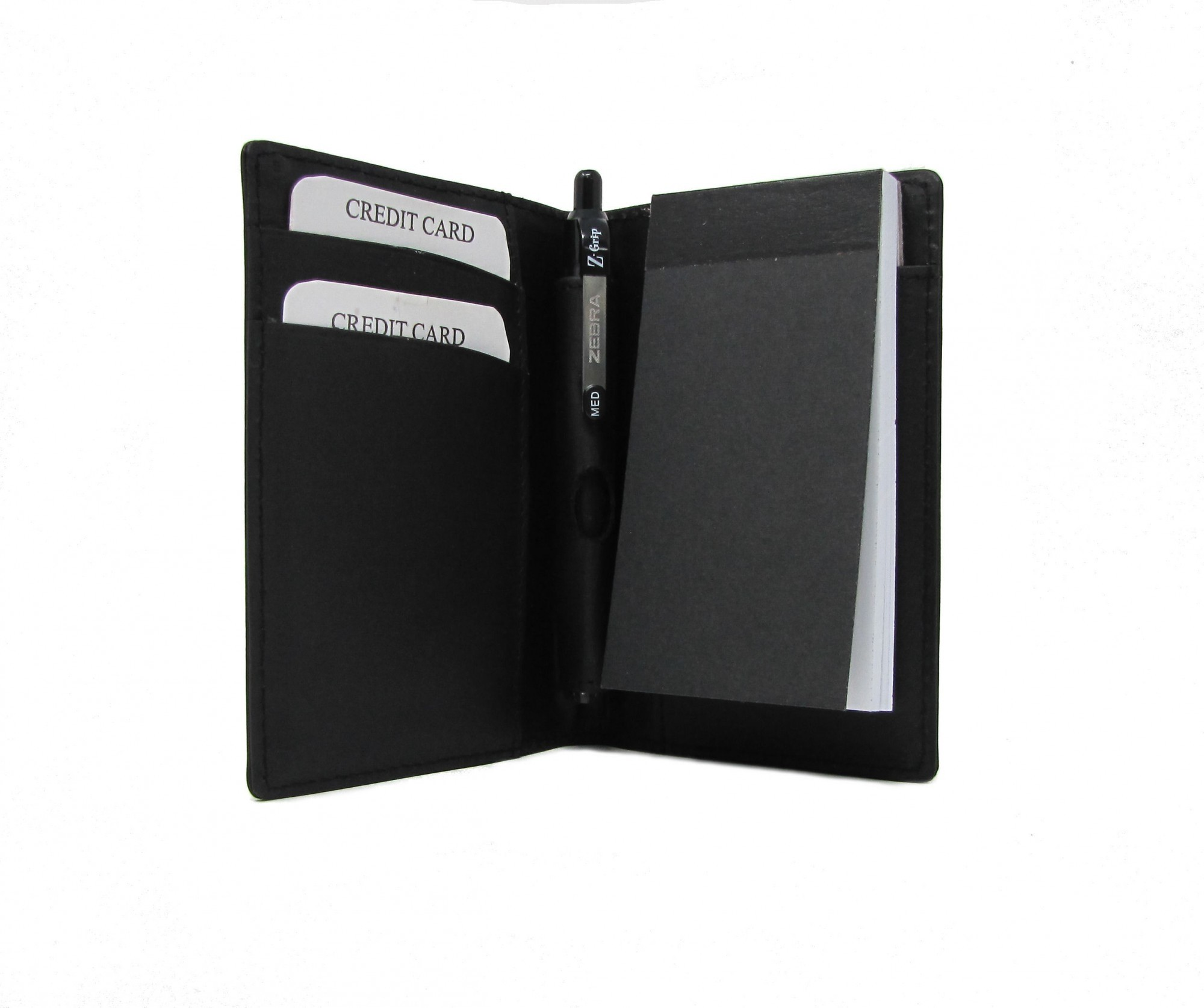BLACK LEATHER A7 STYLE NOTEPAD HOLDER
