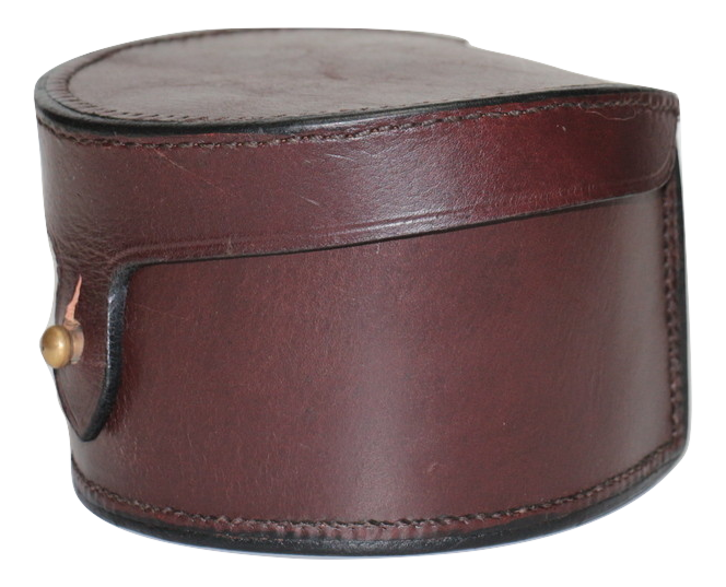 LEATHER FISHING REEL CASE LARGE SIZE 4.5""