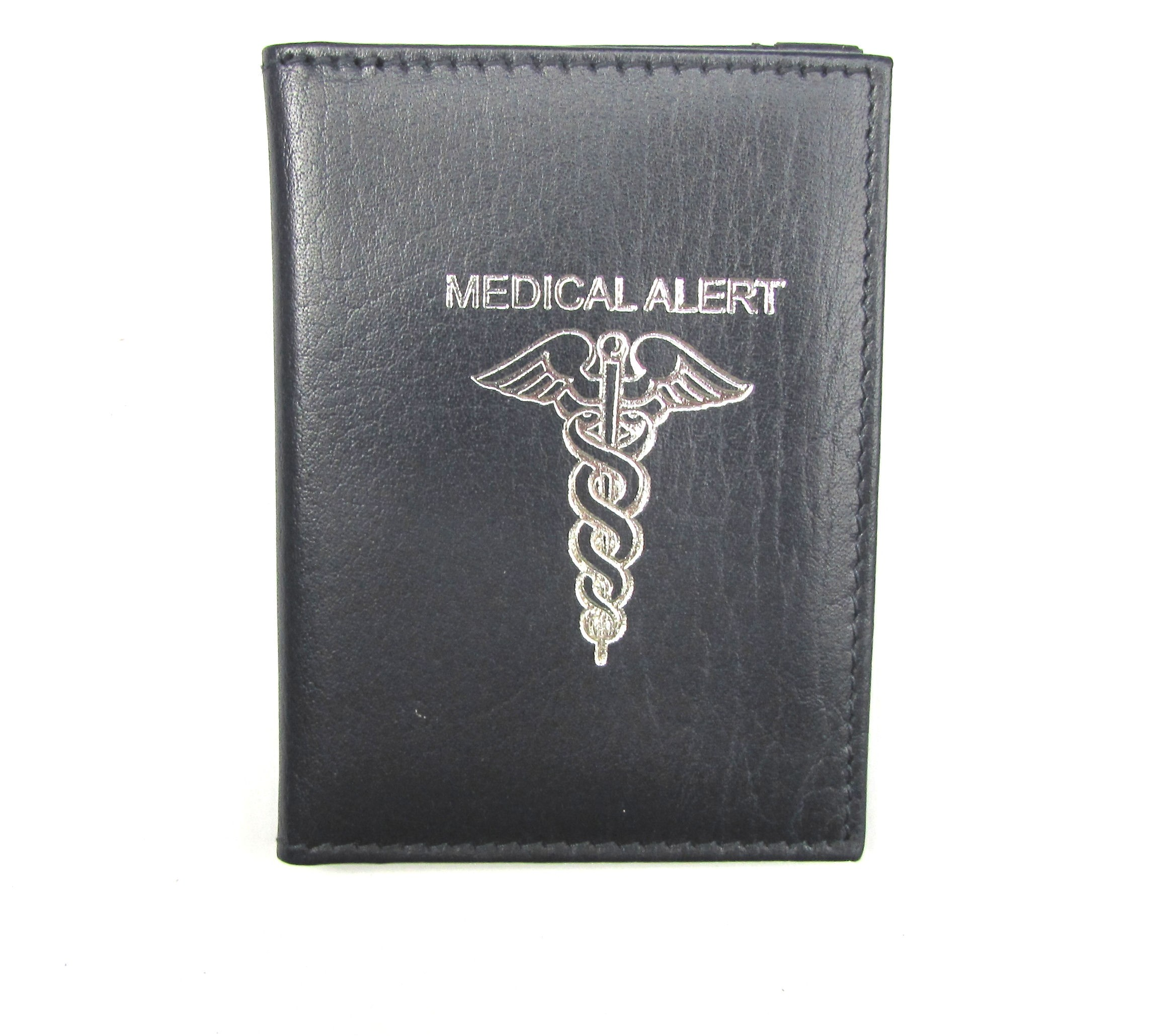 MEDICAL ALERT CARD HOLDER Blue (Will hold COVID vaccine card)