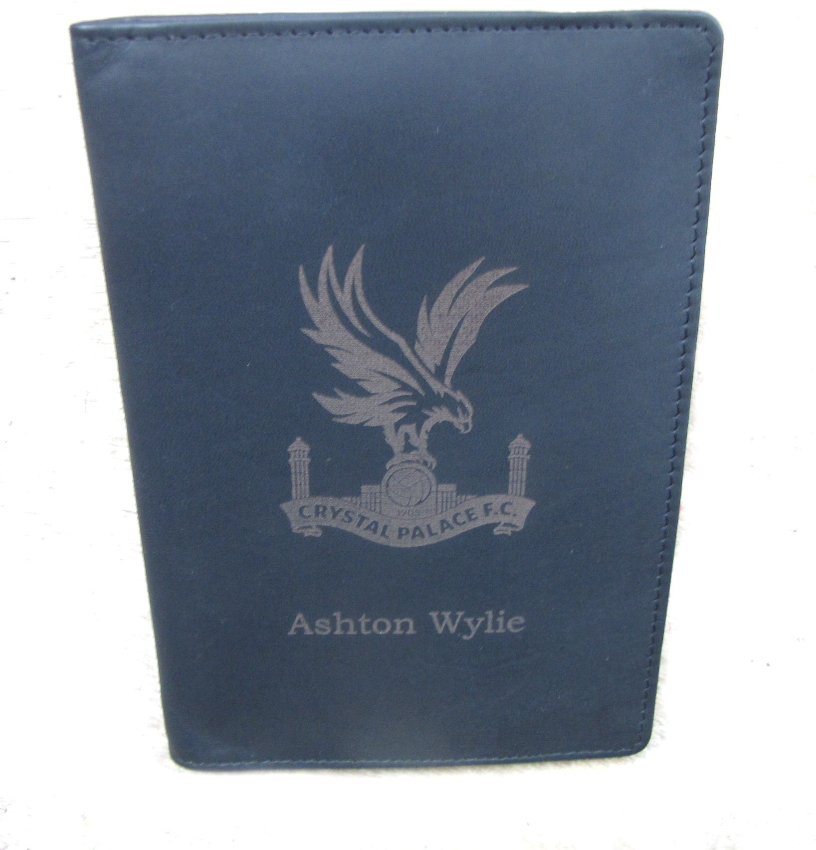 GENUINE LEATHER BLACK GOLF SCORE HOLDER WITH OPTION TO PERSONALISE