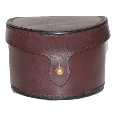 "LEATHER FISHING REEL CASE 3.5"" X 4"""