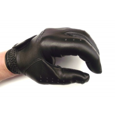 BLACK GABRETTA LEATHER GOLF GLOVE (LEFT HAND GLOVE)