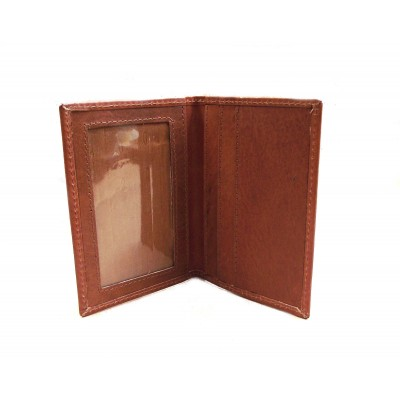 LICENCE ID WALLET TAN LEATHER