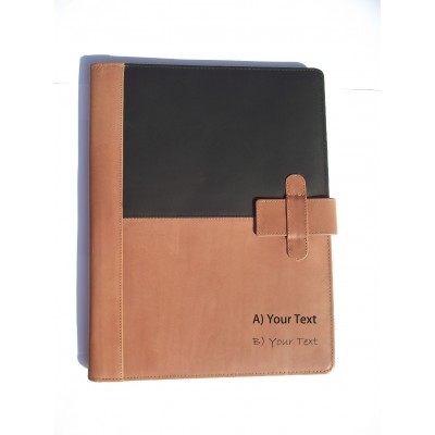 A4 FOLDER PERSONALISED LEATHER LEAVING GIFT NAME & MESSAGE