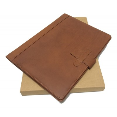A4 FOLDER PERSONALISED LEATHER LEAVING GIFT NAME