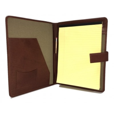 A4 FOLDER PERSONALISED LEAVING GIFT LEATHER NAME & MESSAGE A4 FOLDER DIARY COVER
