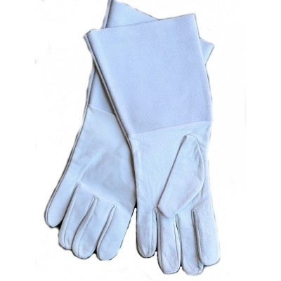 LEATHER GARDENING GLOVES WITH SAFETY CUFFS GIFT BOXED