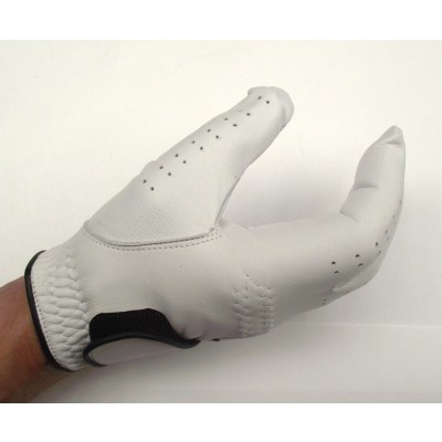GOLF GLOVE GABRETTA WHITE LEATHER WITH (RIGHT HAND GLOVE)