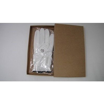 GABRETTA WHITE LEATHER GOLF GLOVE (LEFT HAND GLOVE) - Large