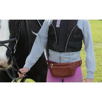 LEATHER EQUESTRIAN PHONE / ACCESSORIES BAG