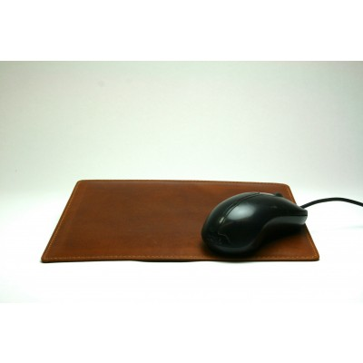 TAN LEATHER MOUSE MAT