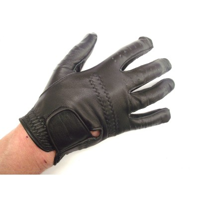 BLACK GABRETTA LEATHER GOLF GLOVE (RIGHT HAND GLOVE)