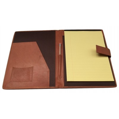 TAN LEATHER A4 FOLDER ORGANISER PORTFOLIO