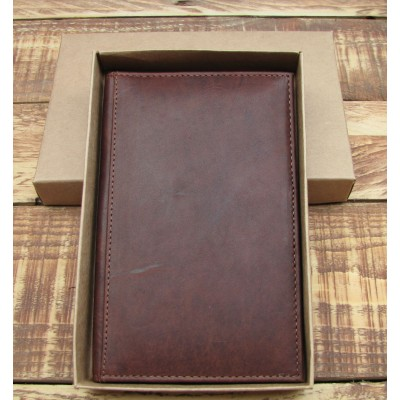 GENUINE LEATHER BROWN TAN GOLF SCORE HOLDER