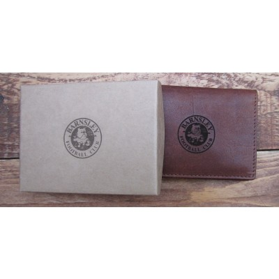 Brown Leather Wallet with your Football Crest logo (any football team)