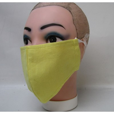 Yellow Face Mask Cotton (washable)