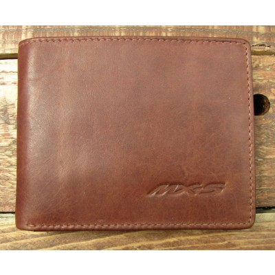 Brown Leather full Wallet with MX5 embossed