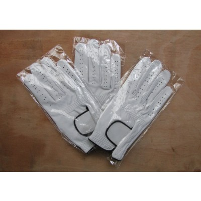 3 x GABRETTA WHITE LEATHER GOLF GLOVES (RIGHT HAND GLOVE)