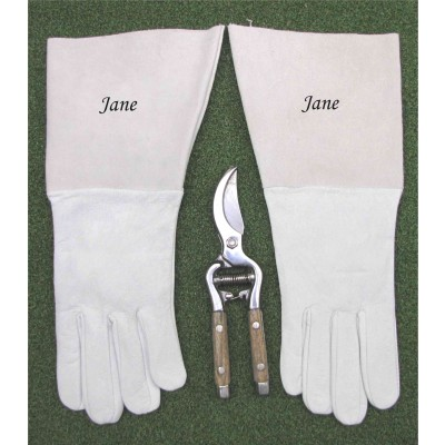 Gardening gloves & secateurs gift boxed & personalised