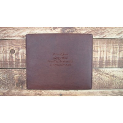 THIRD ANNIVERSARY LEATHER PLACE MATS