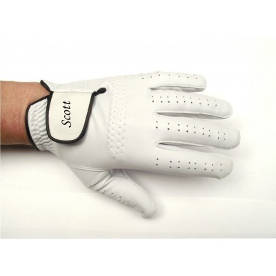 GABRETTA WHITE LEATHER GOLF GLOVE (LEFT HAND GLOVE)